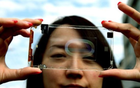 Taiwan firm unveils prototype of transparent cellphone